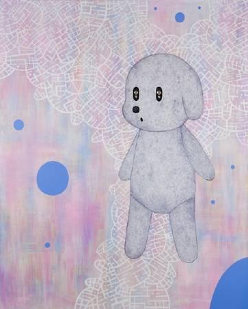 生命中不可承受的輕III 162x130cm 2010 壓克力 墨水筆 施華洛世奇水晶 畫布