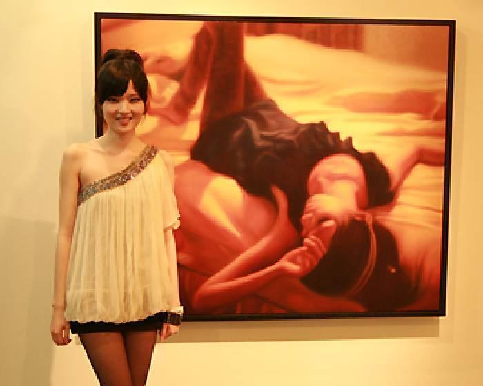 朝代畫廊【迷離的現實】張逸萱2010油畫創作個展花絮