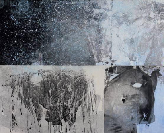 江河行地 複合媒材 90x180cm / 2010