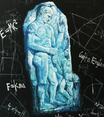記憶的石頭-No.4-油畫-145x130cm-2010