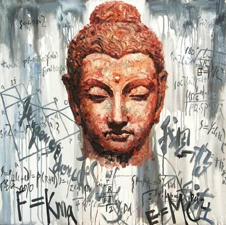 記憶的石頭-No.6-油畫-100x100cm-2010