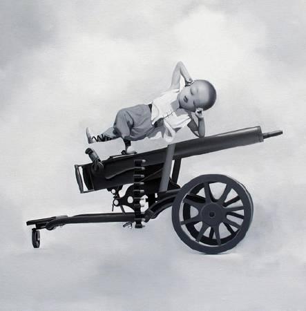 清淨世界,110X110CM,布面油畫,2011