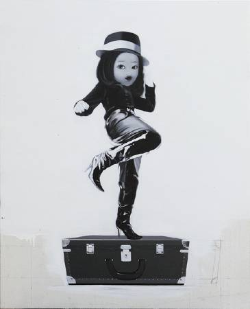 誰說女子不如男,100X80CM,布面油畫,2011