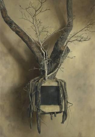 張榕展《世界樹》。圖/國立台灣美術館提供。