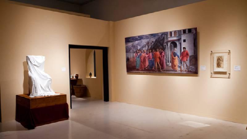《米開朗基羅:文藝復興巨匠再現》展場一景。圖/時藝多媒體提供。