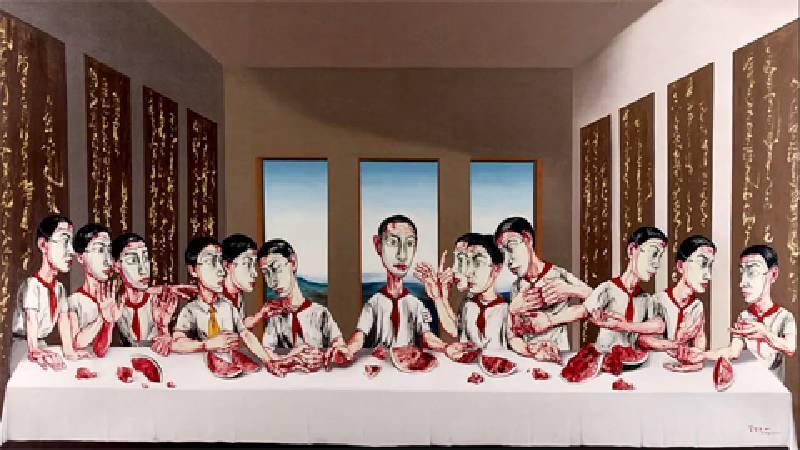 曾梵志《最後的晚餐》,圖/擷取自蘇富比官網。