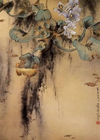 歐豪年,《布袋蓮》。圖/取自網路。