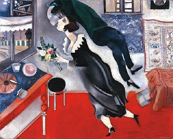 Marc Chagall,《The Birthday》。圖/取自網路。