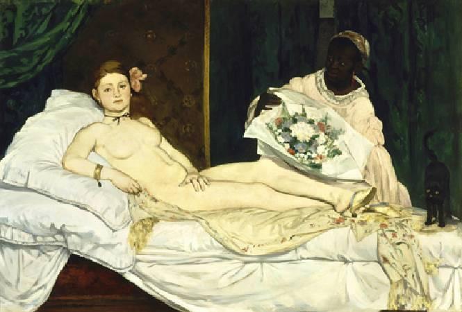 Edouard Manet,《Olympia》。