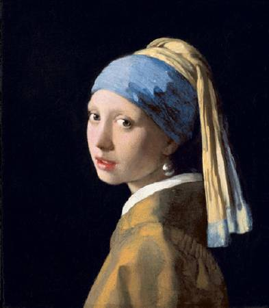 Johannes Vermeer,《Girl With A Pearl Earring》。