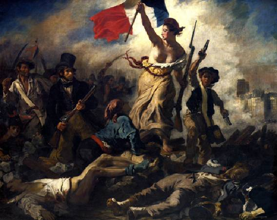 Delacroix,《Liberty Leading the People》。