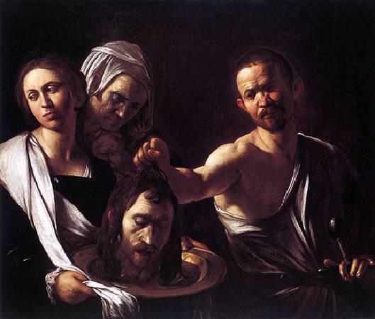 卡拉瓦喬,〈莎樂美接收施洗者約翰的頭〉