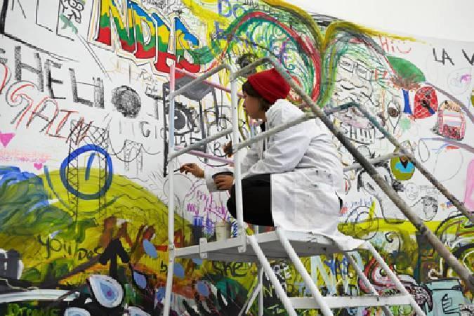 帕維爾‧阿瑟曼,〈塗鴉人的國會〉。圖/擷取自新美術館粉絲團。