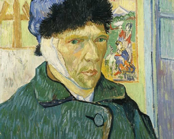梵谷,耳朵綁上繃帶的自畫像 【看Youtube學藝術系列】