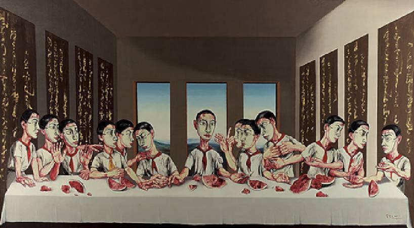 曾梵志《最後的晚餐》。