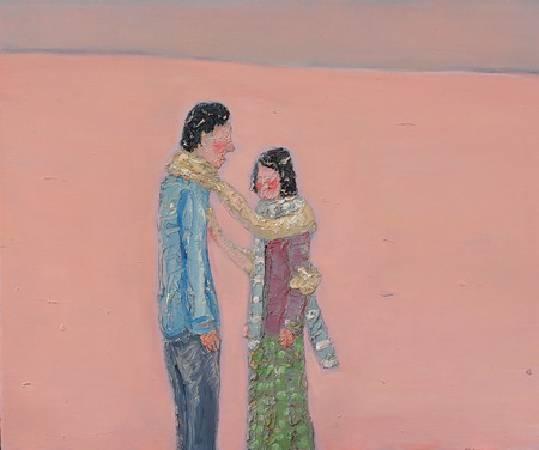 《如果我能抱妳If I Could Hug You》,油彩、畫布 2011。