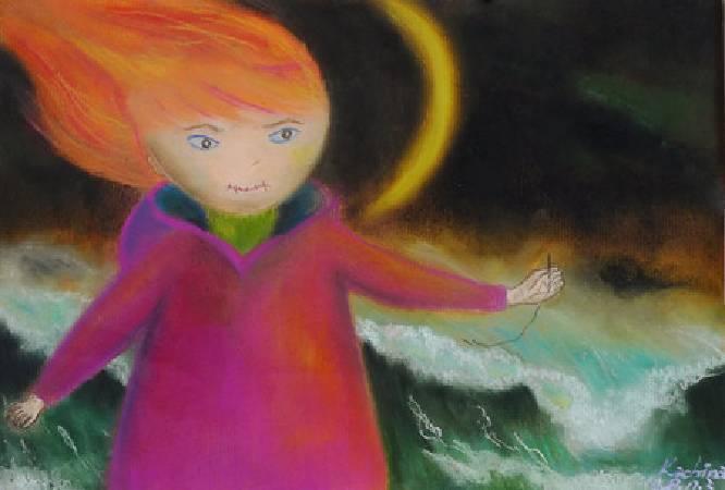 《我閉嘴 mute》,  複合媒材 、畫紙 2010。