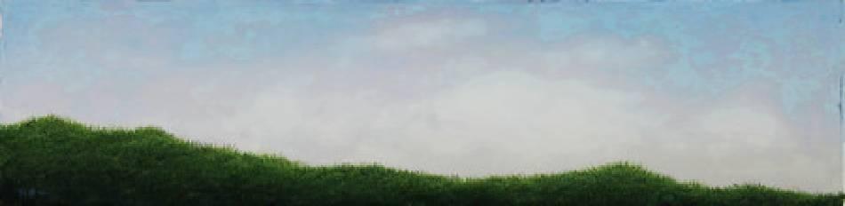 《邊緣‧輪廓 26》,  複合媒材 、畫布 2011。