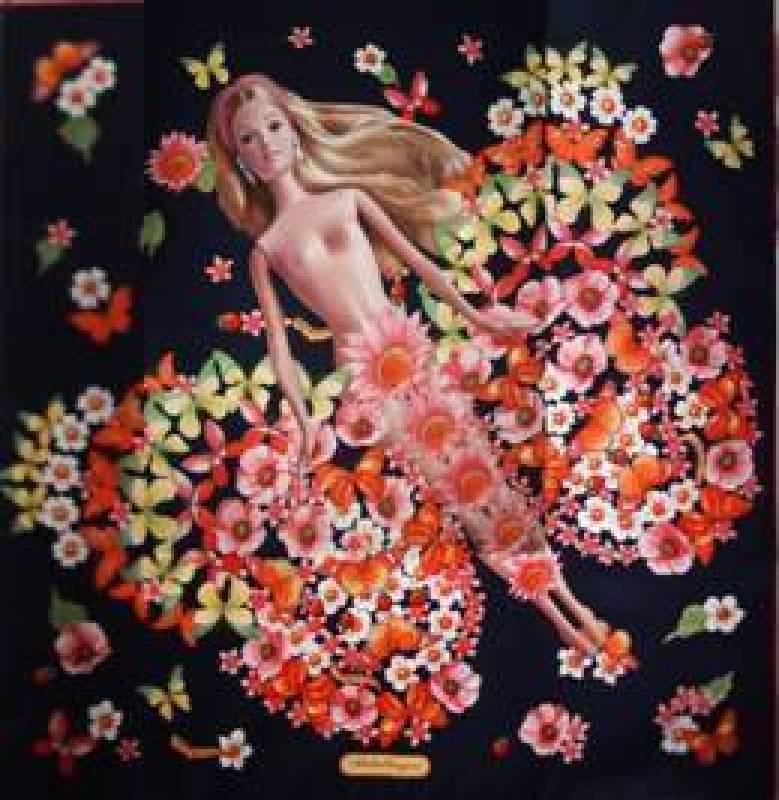 吳爭豔,我的奢侈品Ferragamo No.4—蛻變4,7.5cmX47cm 絲綢丙烯  2012