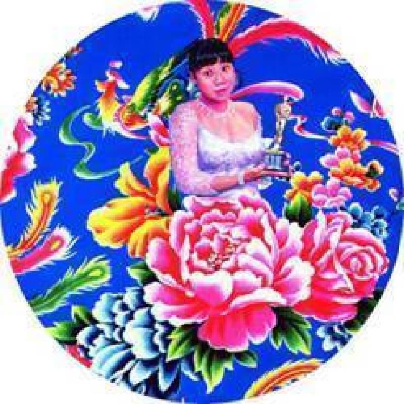吳爭豔,我的奧斯卡02-10,35cmX35cm 布面丙烯 2005