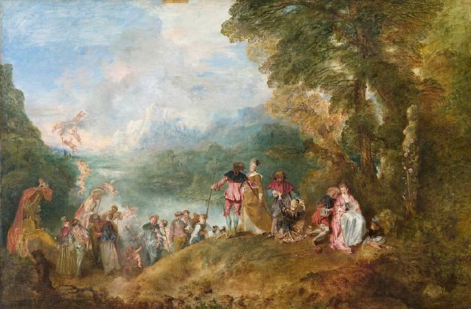《塞瑟島朝聖》。圖/擷取自維基百科。