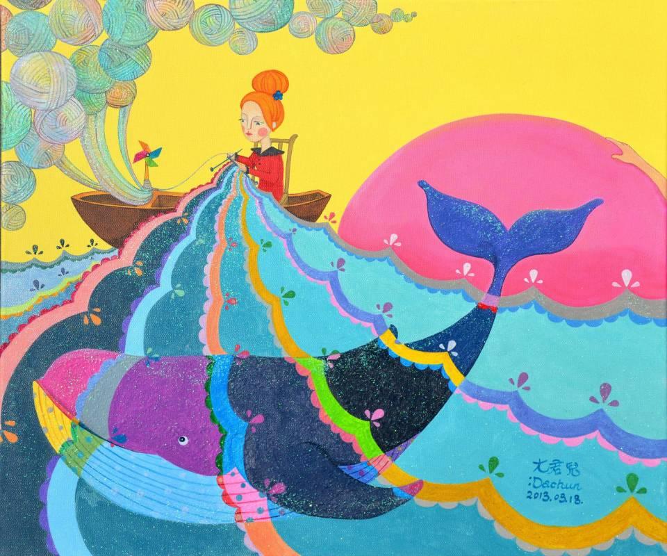 織布-複合媒材53×45-2013