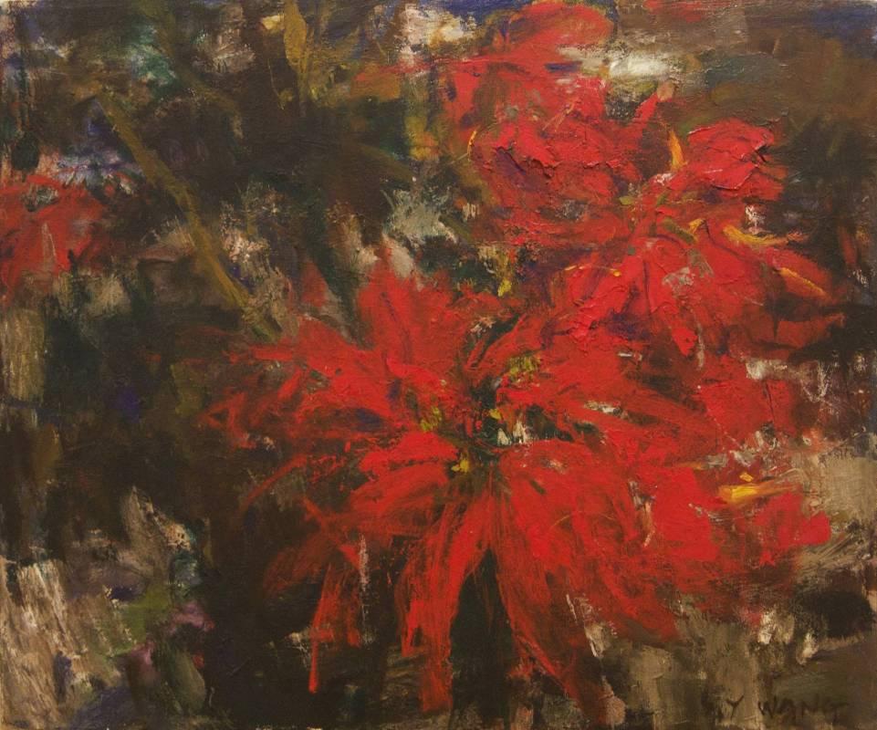王守英 │ 聖誕紅 │ 油畫 │ 12F 60.5x50 cm │ 2007