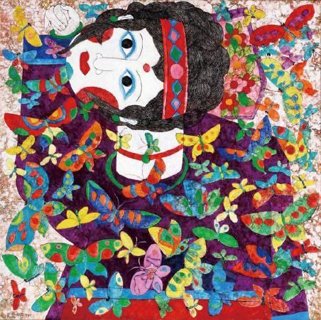 吳昊,《蝴蝶與女孩》。圖/尊彩藝術中心提供。