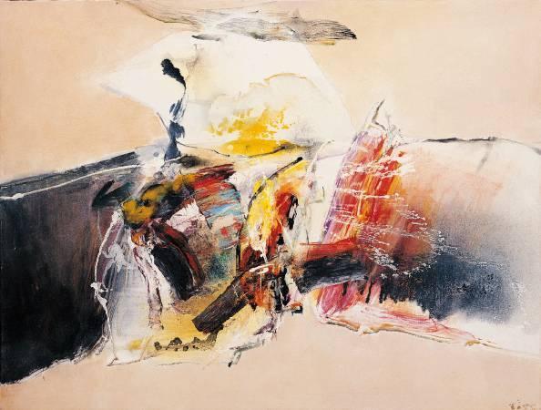 莊喆,《交會》。圖/尊彩藝術中心提供。