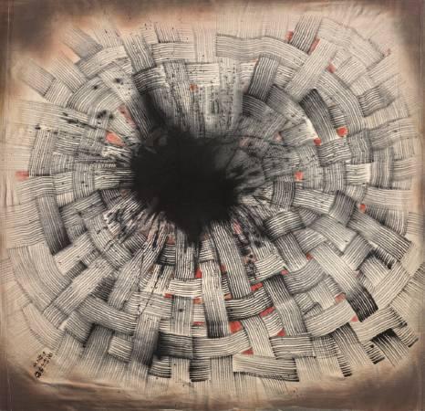 楚戈,《原初的結構》。圖/尊彩藝術中心提供。