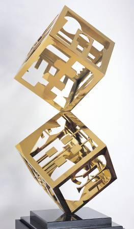 廖修平,《節慶之柱(四)》。圖/尊彩藝術中心提供。