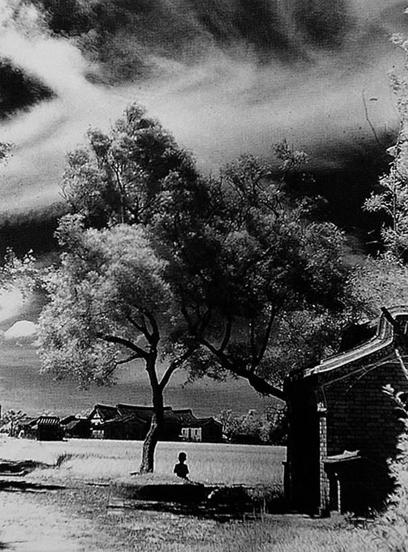 李鳴鵰-鄉村一景 台北三張犁_1947