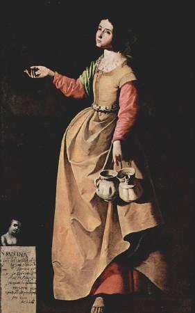 Francisco Zurbarán, Saint Rufina。圖/取自Wikipedia。