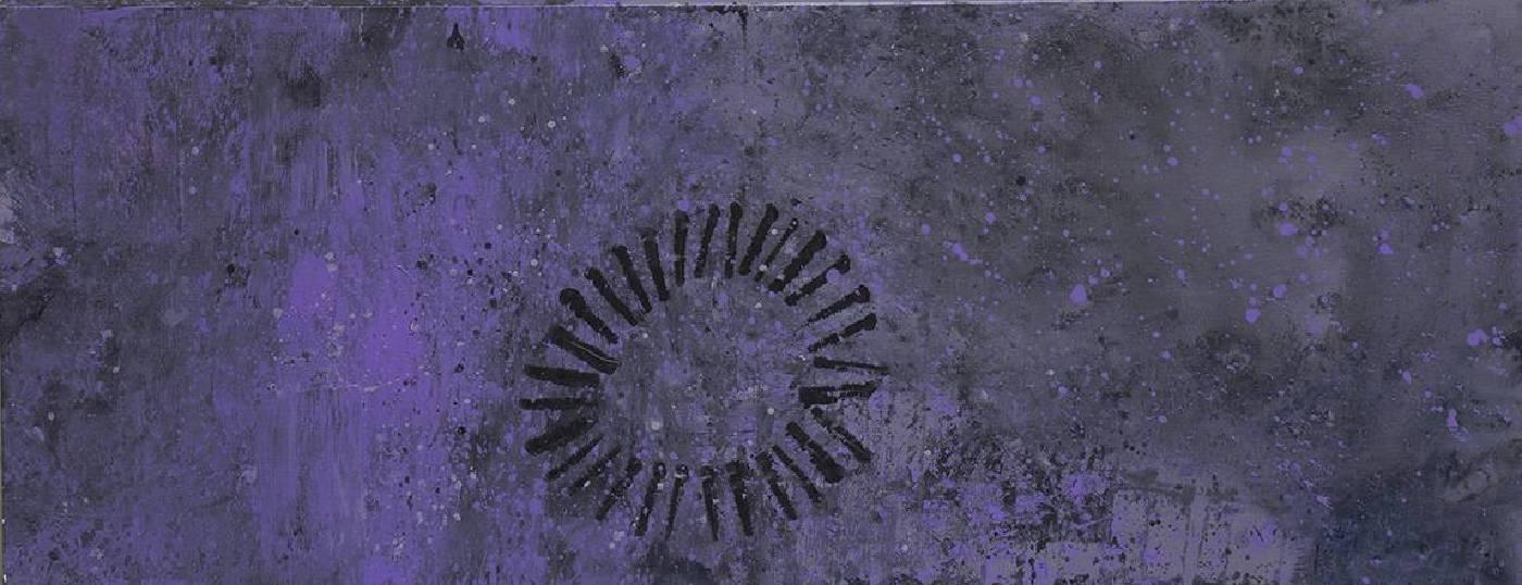 顏頂生,黃金之花(三),壓克力顏料.畫布,145.5x56cm,2014