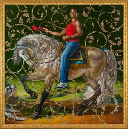 Kehinde Wiley《波托基公爵的畫像》。圖/取自Kehinde Wiley官網。