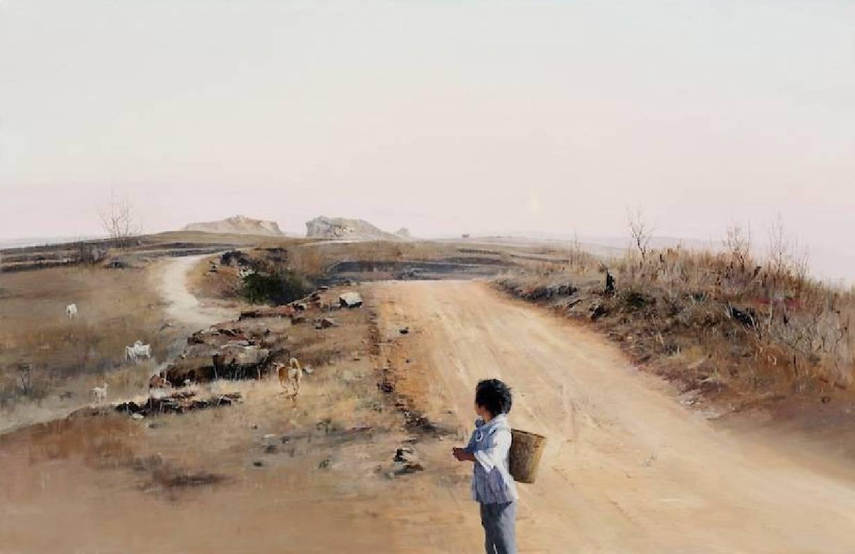 山东省之路 84×129cm 布面油画2013