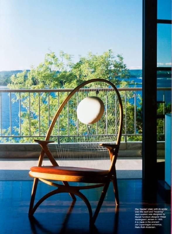 國外典藏作品 球拍椅(照片提供:懷德居文化基金會)