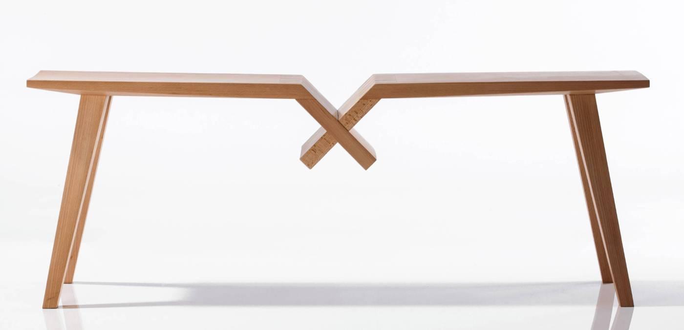 學員 陳重光作品 合座凳(照片提供:懷德居文化基金會)