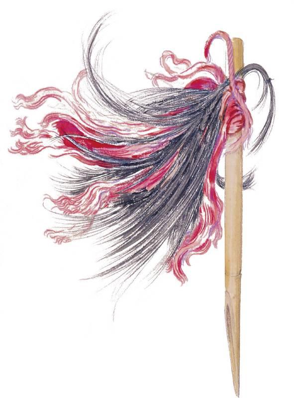 布農族的竹製髮簪