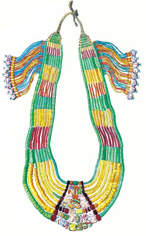 排灣族的琉璃珠項飾