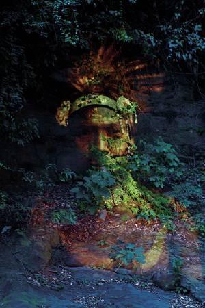 瓦歷斯.拉拜|與靈對話 數位影像輸出120x80cm 2014 台北當代藝術館提供