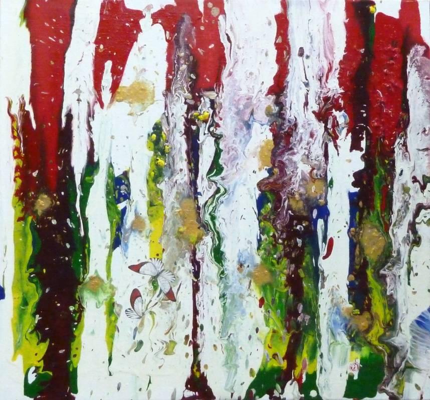楓的訊息, 2014, 油彩、畫布, 53×53cm, 藝術家自藏