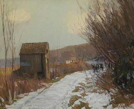 《冬季道路》(Winter Road), 1908