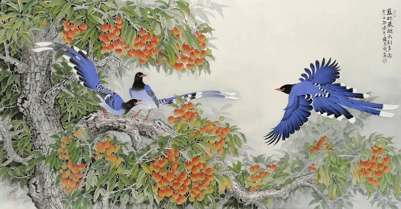 張克齊,《藍羽展翅大利多多》。
