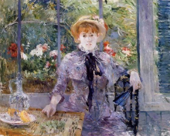 莫莉索《午餐後》(After Lunch),1881。圖/取自Wikiart。