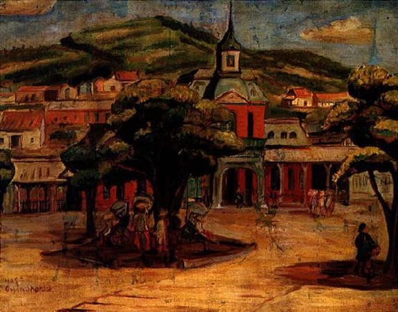 陳植棋《基隆火車站》,1928。圖/取自視覺素養學習網。