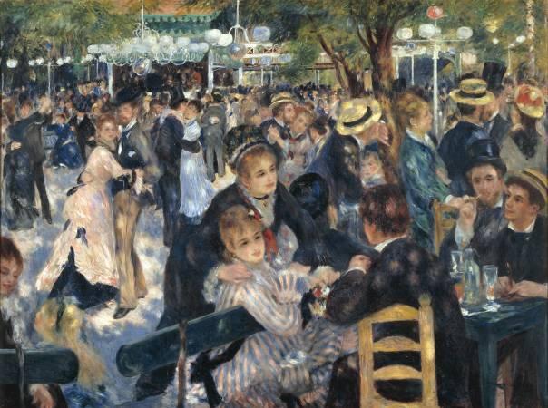 雷諾瓦,《煎餅磨坊的舞會》。圖/取自wikipedia。