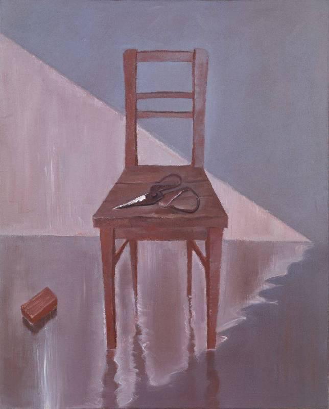 毛旭輝,《靠背椅上的剪刀》