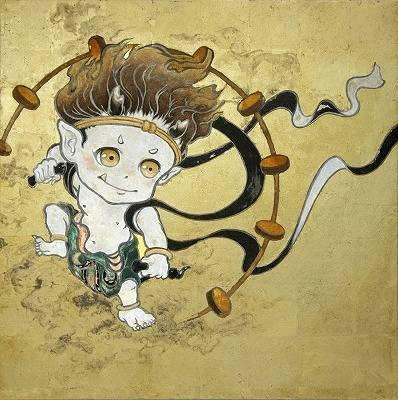 Hiroo suzuki 鈴木博雄-雷神坊  Stone Pigments-27×27cm-2014-shukado 秋華洞