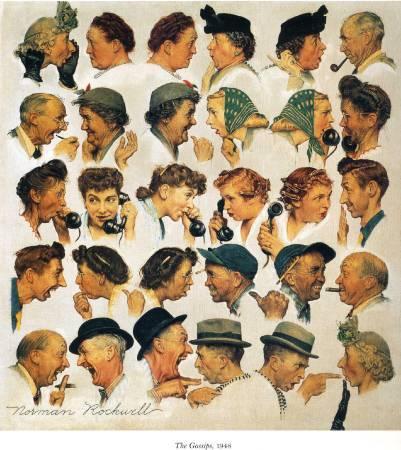 洛克威爾《流言》(The Gossips),1948。圖/取自Wikiart。